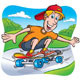 Skateboarding Teen Riding on the Sidewalk - GraphicRiver Item for Sale