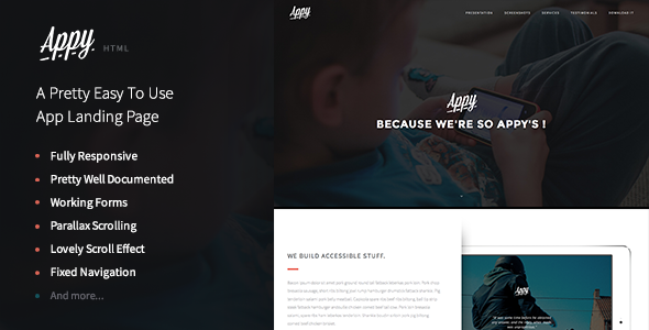 ThemeForest Appy An Easy To Use App and Landing Page 9006836