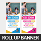 Kids School Rollup Banner Psd Template - GraphicRiver Item for Sale