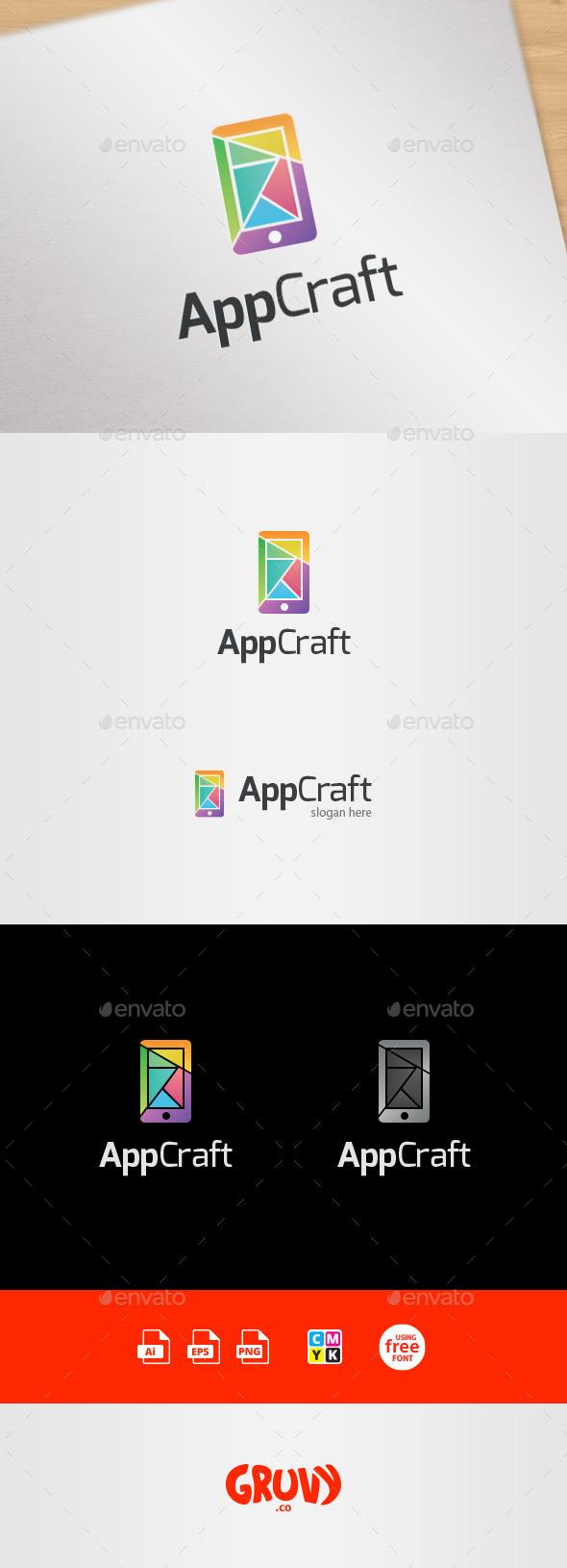 GraphicRiver AppCraft Mobile App Design Logo Template 9007325