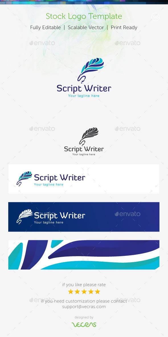 GraphicRiver Script Writer Stock Logo Template 9007549