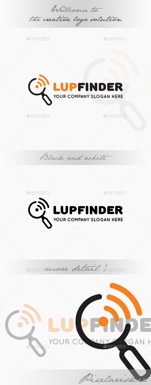 GraphicRiver Lup Signal Finder Logo 9007563