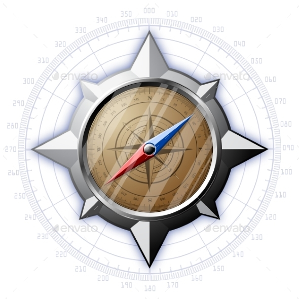 GraphicRiver Steel Compass with Scale 9007600