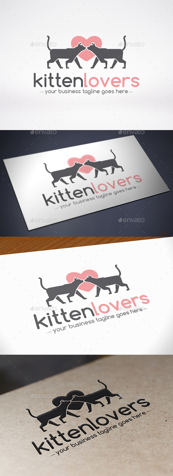 GraphicRiver Love Cat Logo Template 9007605