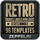 96 Retro Vintage Badges & Labels Bundle Vol.2 - GraphicRiver Item for Sale
