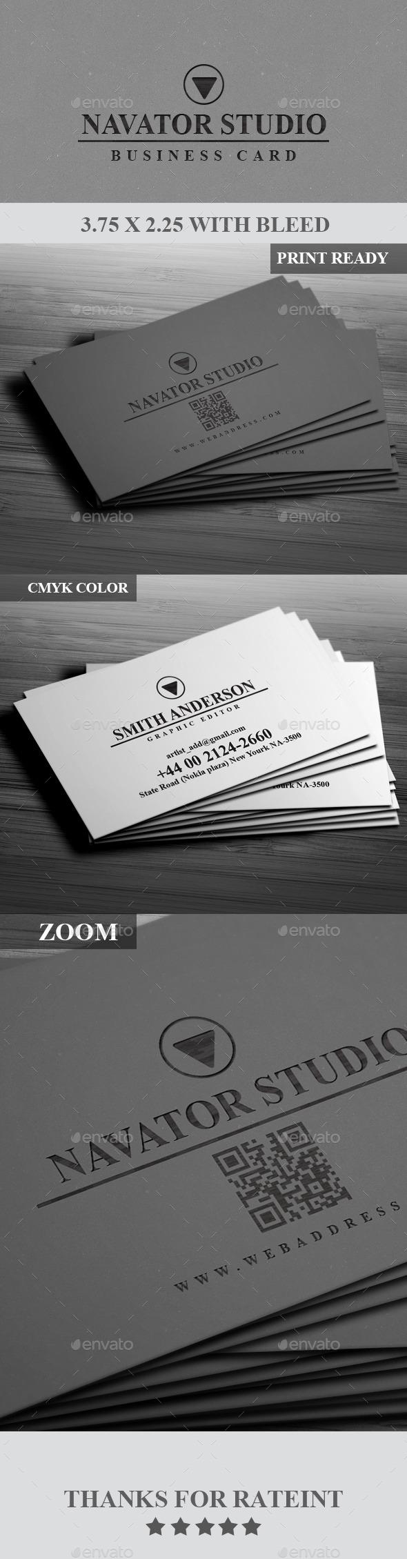GraphicRiver Navaor Studio Business Card 9007653