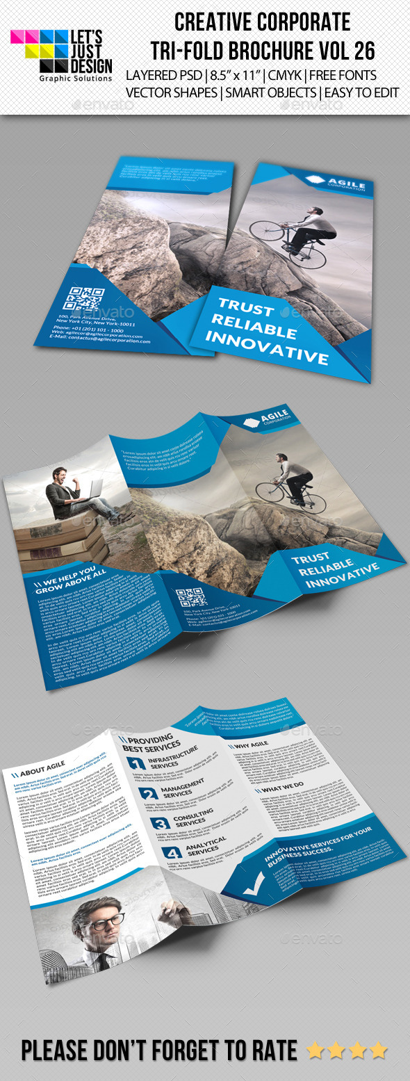 GraphicRiver Creative Corporate Tri-Fold Brochure Vol 26 9007693