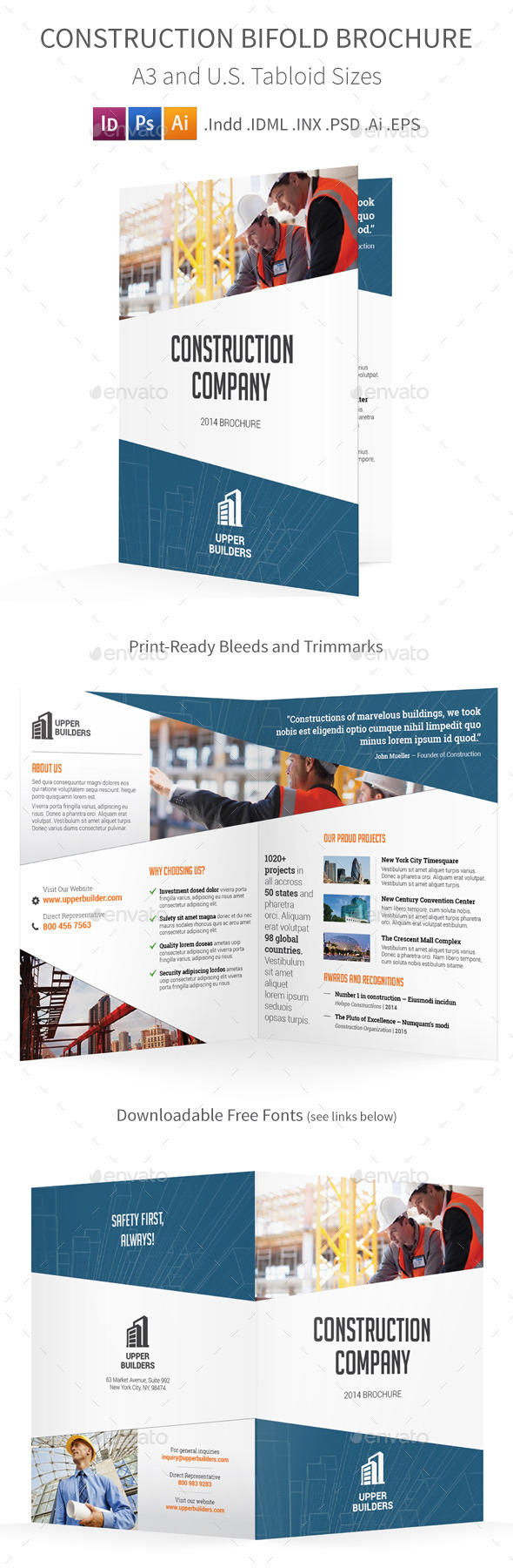 GraphicRiver Construction Bifold Halffold Brochure 9007701