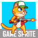 Zombie Hunter Cat Sprite - GraphicRiver Item for Sale
