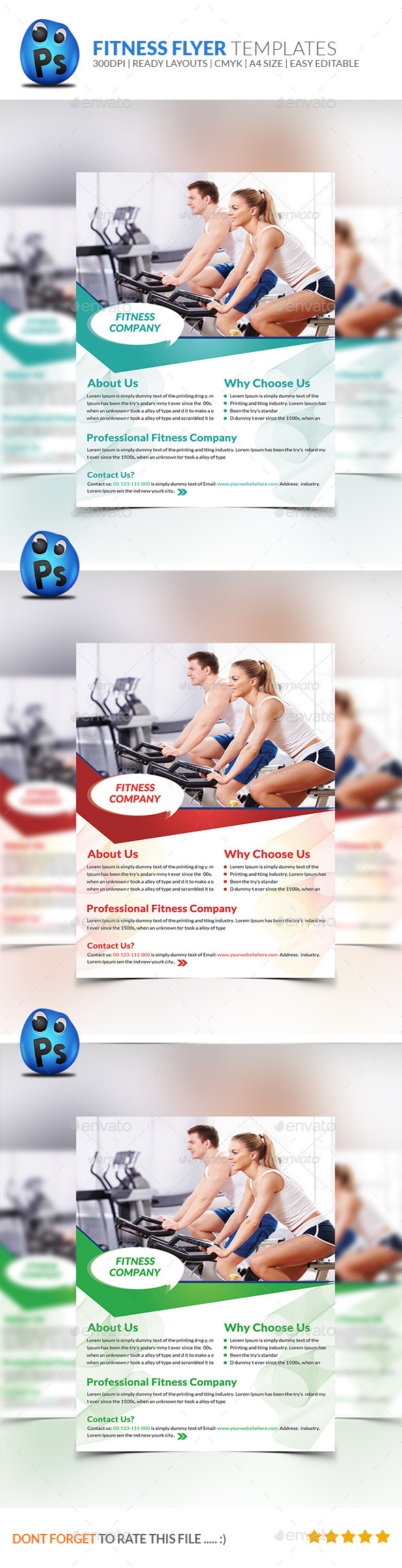 GraphicRiver Fitness Flyer Print Templates 9007761