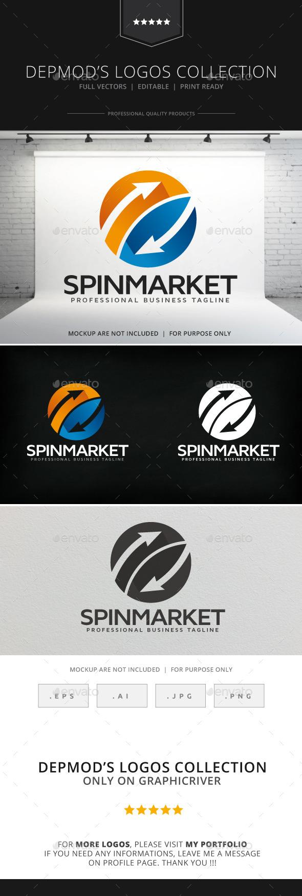 GraphicRiver Spin Market Logo 9008007