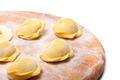Raw ravioli on wooden cutting board - PhotoDune Item for Sale