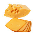 Piece and slices of cheese - PhotoDune Item for Sale