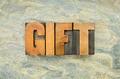 gifr word in wood type - PhotoDune Item for Sale
