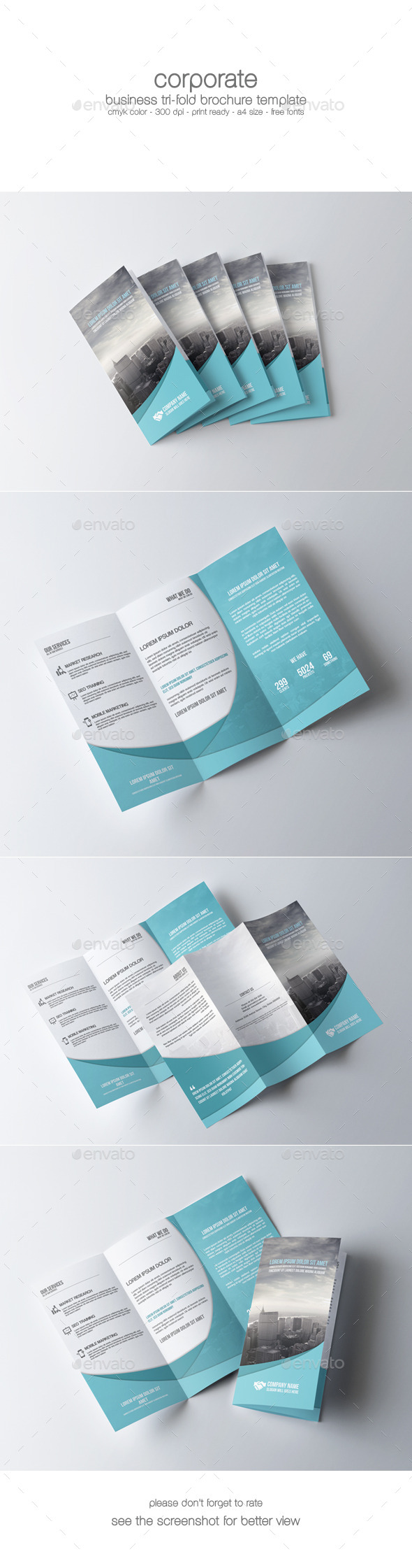 GraphicRiver Corporate Tri-Fold Brochure 9008536