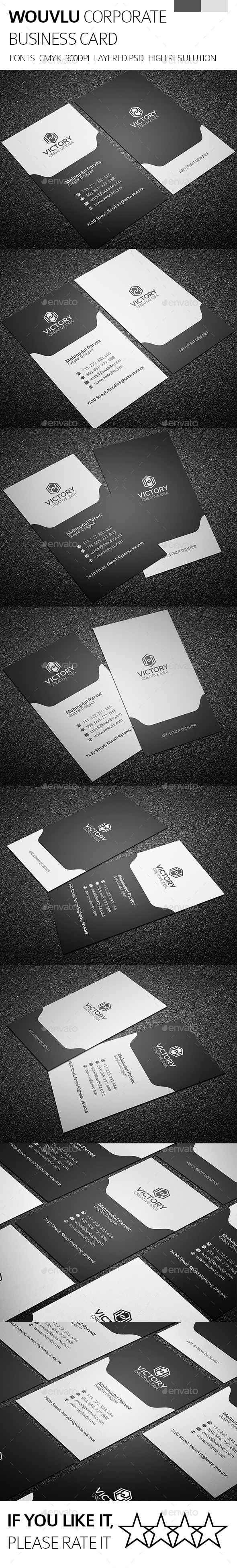 GraphicRiver Wouvlu & Corporate Business Card 9008587