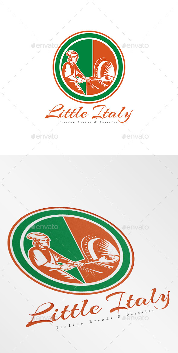 GraphicRiver Little Italy Italian Breads Logo 9008613