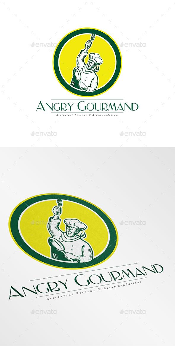 GraphicRiver Angry Gourmand Logo 9008660