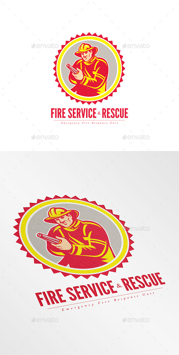 GraphicRiver Fire Service and Rescue Logo 9008663