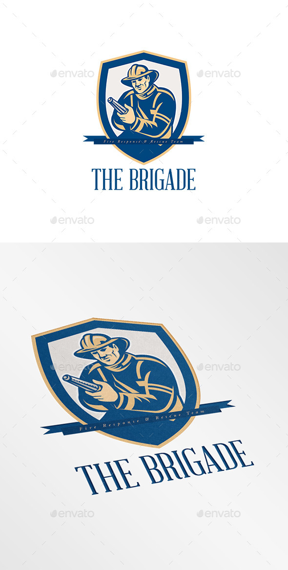 GraphicRiver The Brigade Fire Rescue Logo 9008672