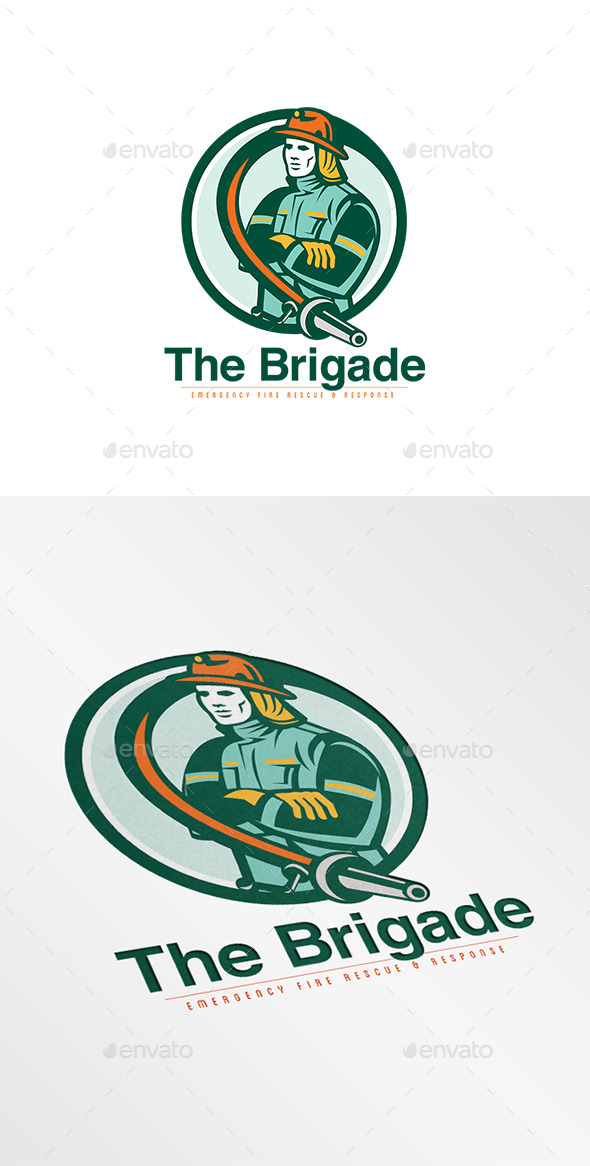 GraphicRiver Brigade Emergency Fire Rescue Logo 9008677