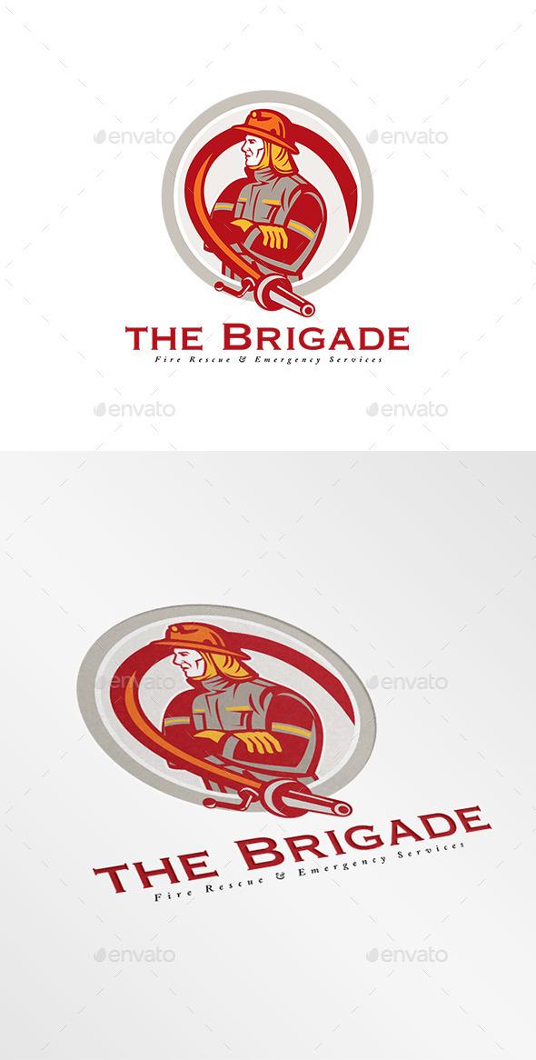 GraphicRiver Brigade Emergency Fire Services Logo 9008682