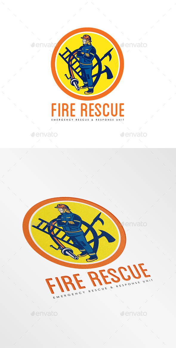 GraphicRiver Fire Rescue Logo 9008686