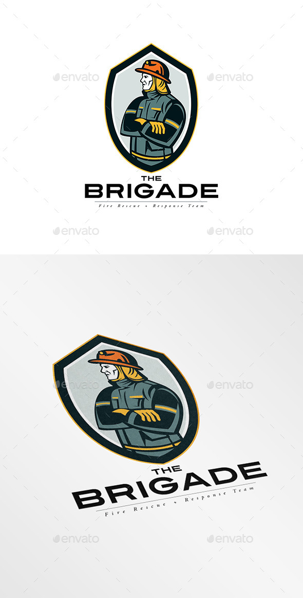 GraphicRiver The Brigade Fire Rescue Team Logo 9008691