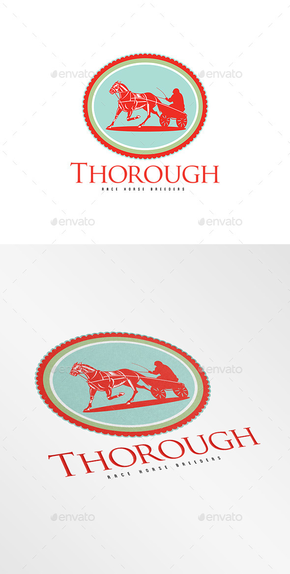 GraphicRiver Thorough Race Horse Breeders Logo 9008695