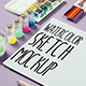 Watercolor Sketch Mock Up - GraphicRiver Item for Sale