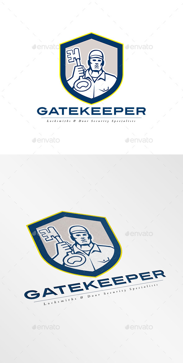 GraphicRiver Gatekeeper Security Locks Specialists Logo 9008744