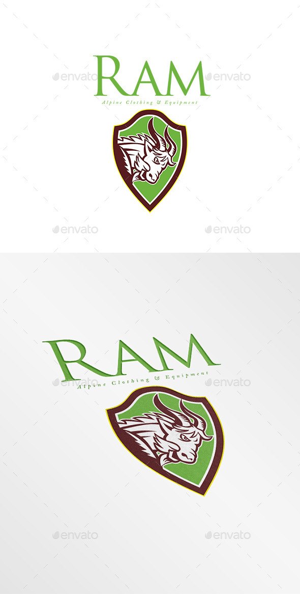 GraphicRiver Ram Alpine Clothing Logo 9009037