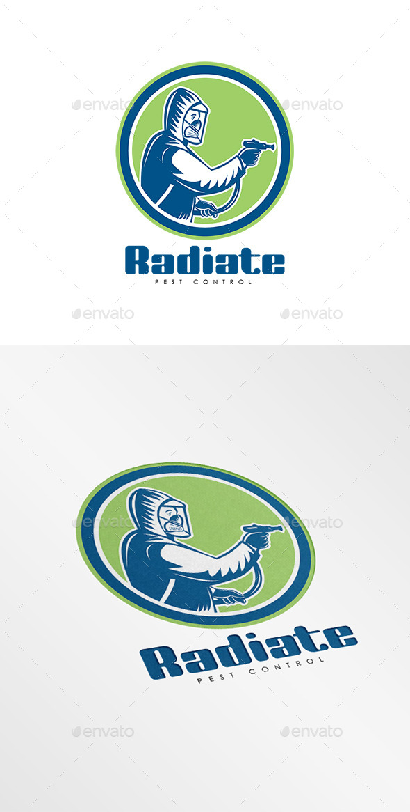 GraphicRiver Radiate Pest Control Logo 9009050