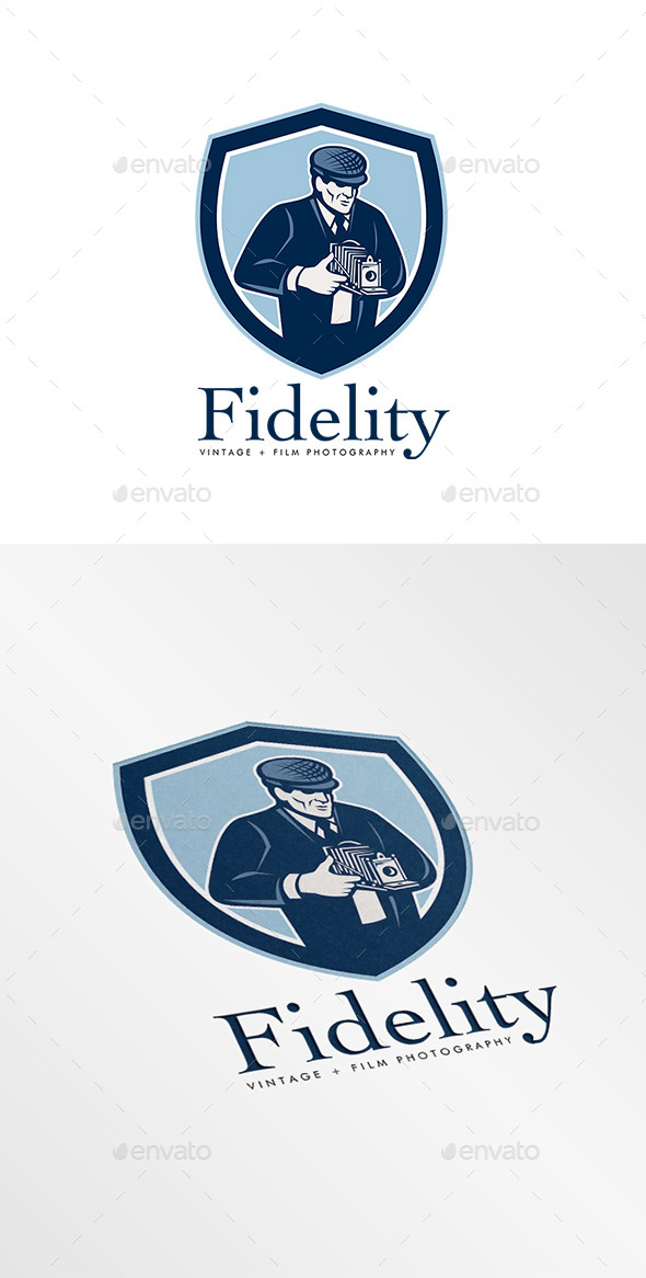 GraphicRiver Fidelity Vintage Film Photography Logo 9009076