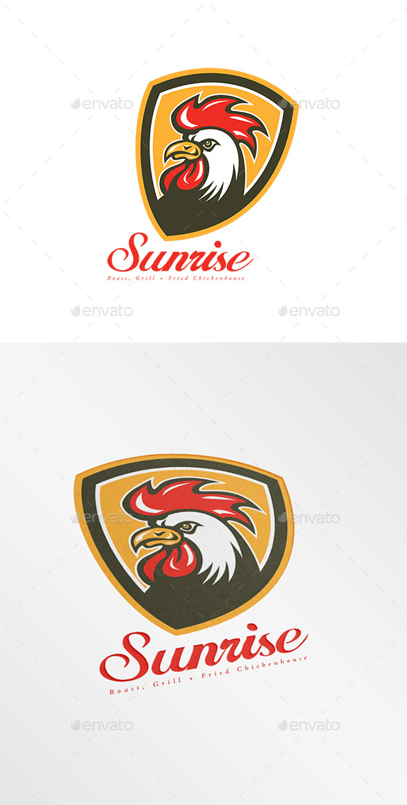 GraphicRiver Sunrise Fried Chicken House Logo 9009164