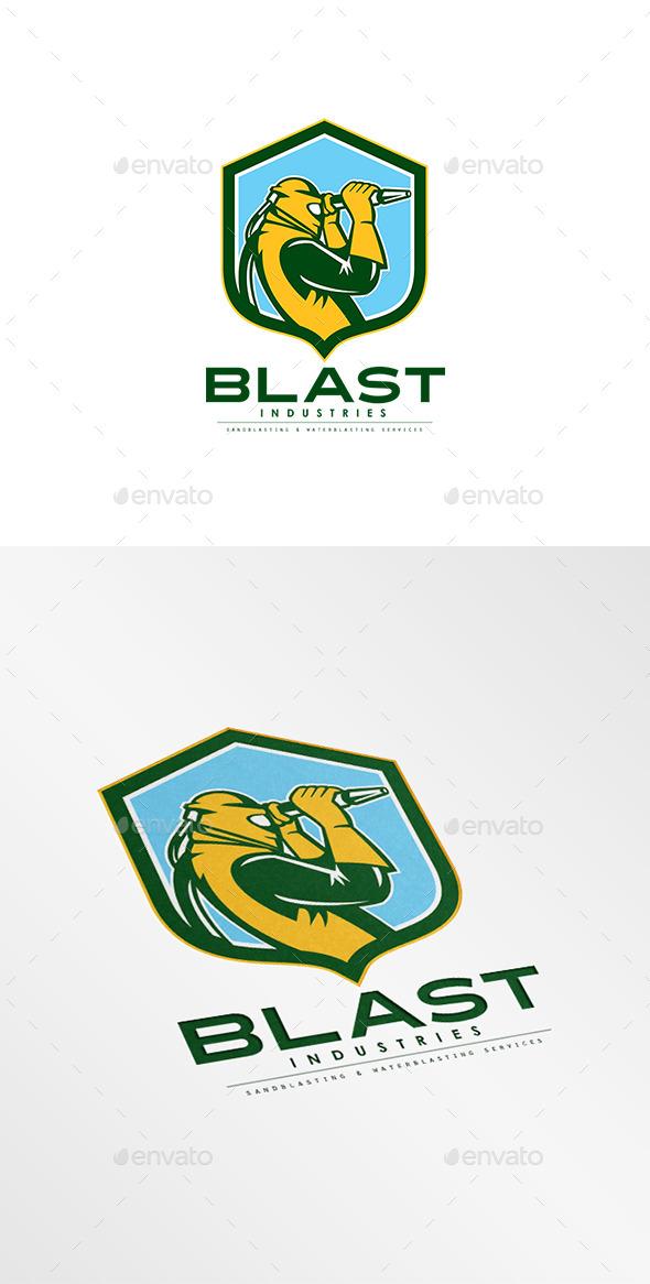 GraphicRiver Blast Industries Sandblasting Logo 9009187