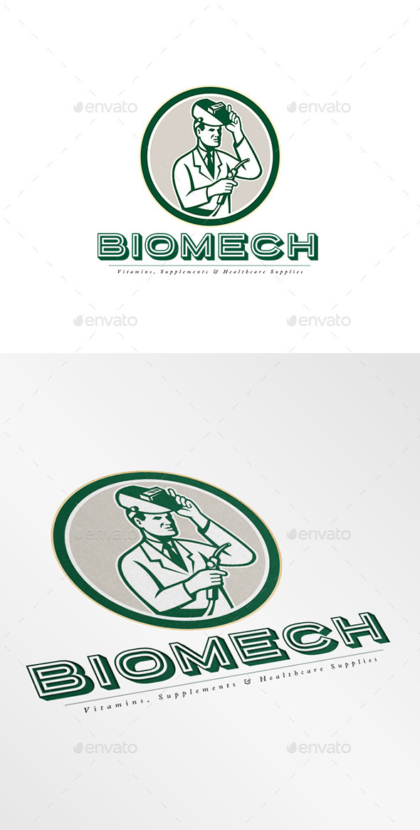 GraphicRiver Biomech Vitamins Logo 9009199