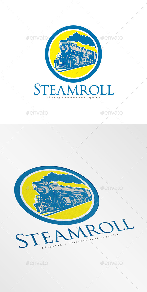GraphicRiver Steam Roll Shipping and Logistics Logo 9009233