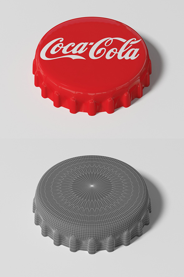 3DOcean Coca Cola Bottle Tin Cap 9009386