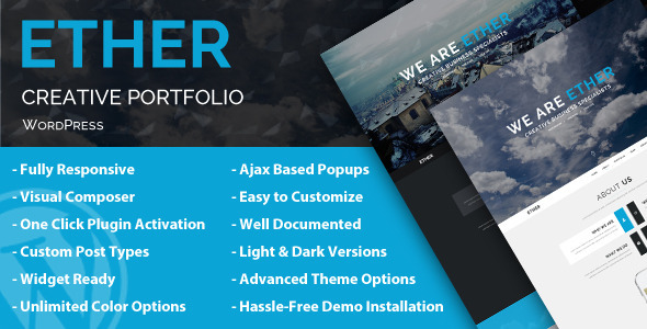 ThemeForest Ether Creative Business WordPress Theme 8637626