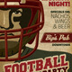 Retro Football Party / Event Poster or Flyer - GraphicRiver Item for Sale