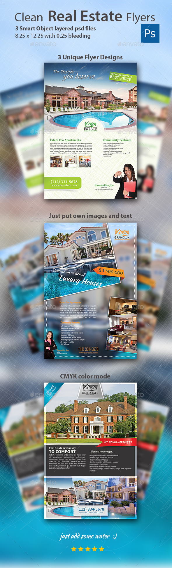 GraphicRiver Clean Real Estate Flyers 9009610