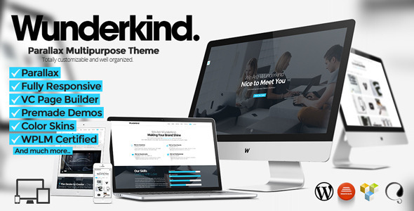 Wunderkind Responsive One Page WordPress Theme -