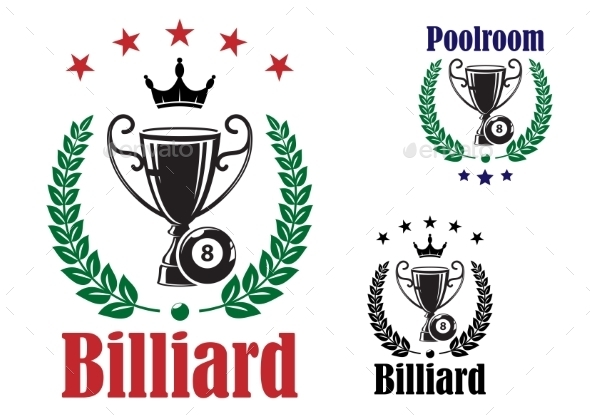 GraphicRiver Billiard Trophy Cup 9009702