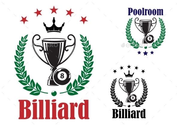 GraphicRiver Billiard Trophy Cup 9009702