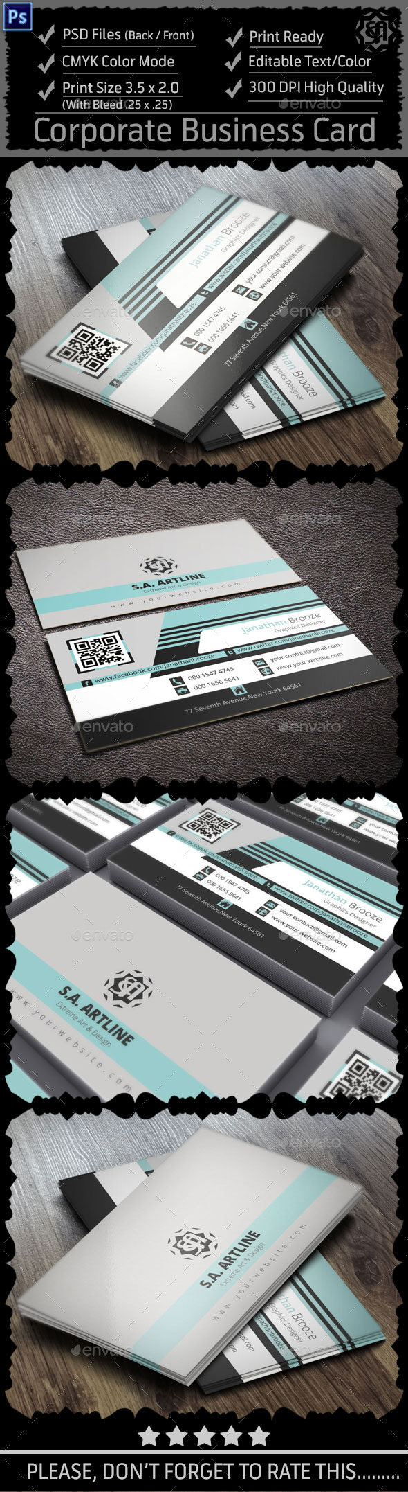 GraphicRiver Modern Corporate Business Card 9009707