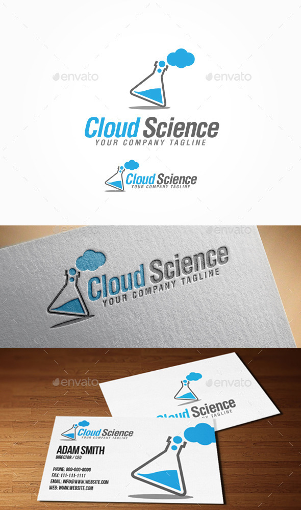 GraphicRiver Cloud Science Logo 9009716
