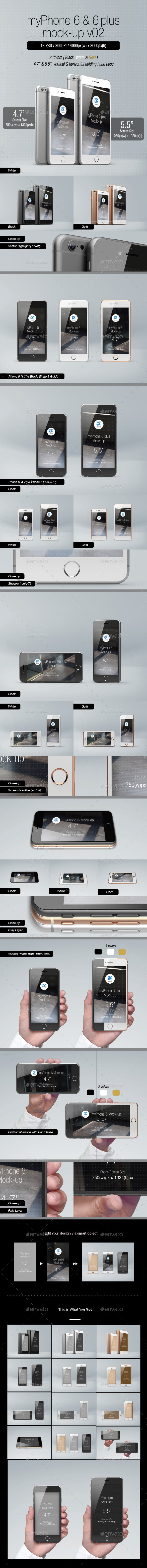 GraphicRiver myPhone 6 Mock-up v02 9009747