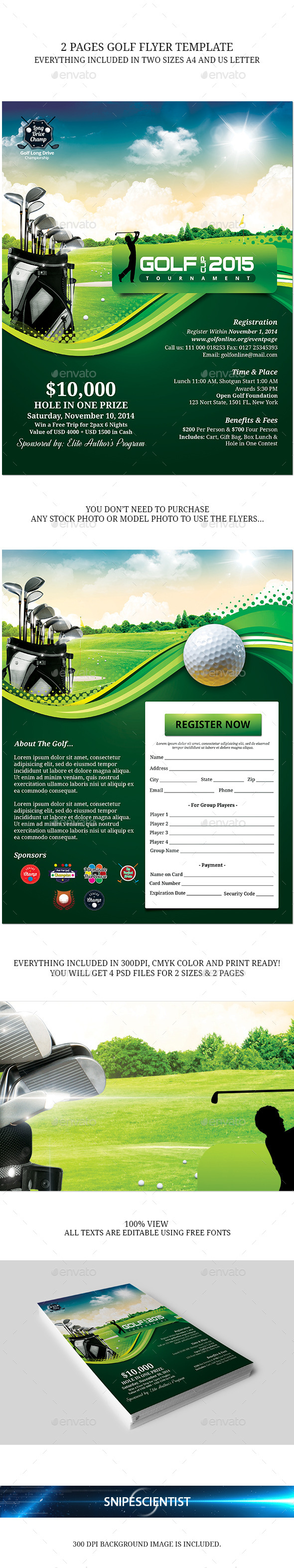 GraphicRiver Golf Event Flyer Template 9009854