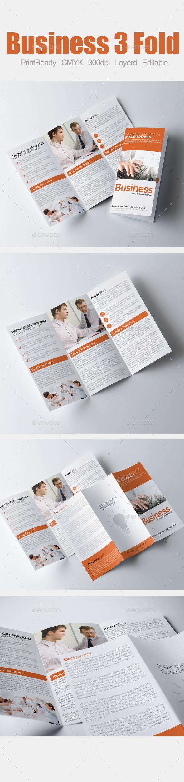 GraphicRiver Tri Fold Business Brochure 9010266